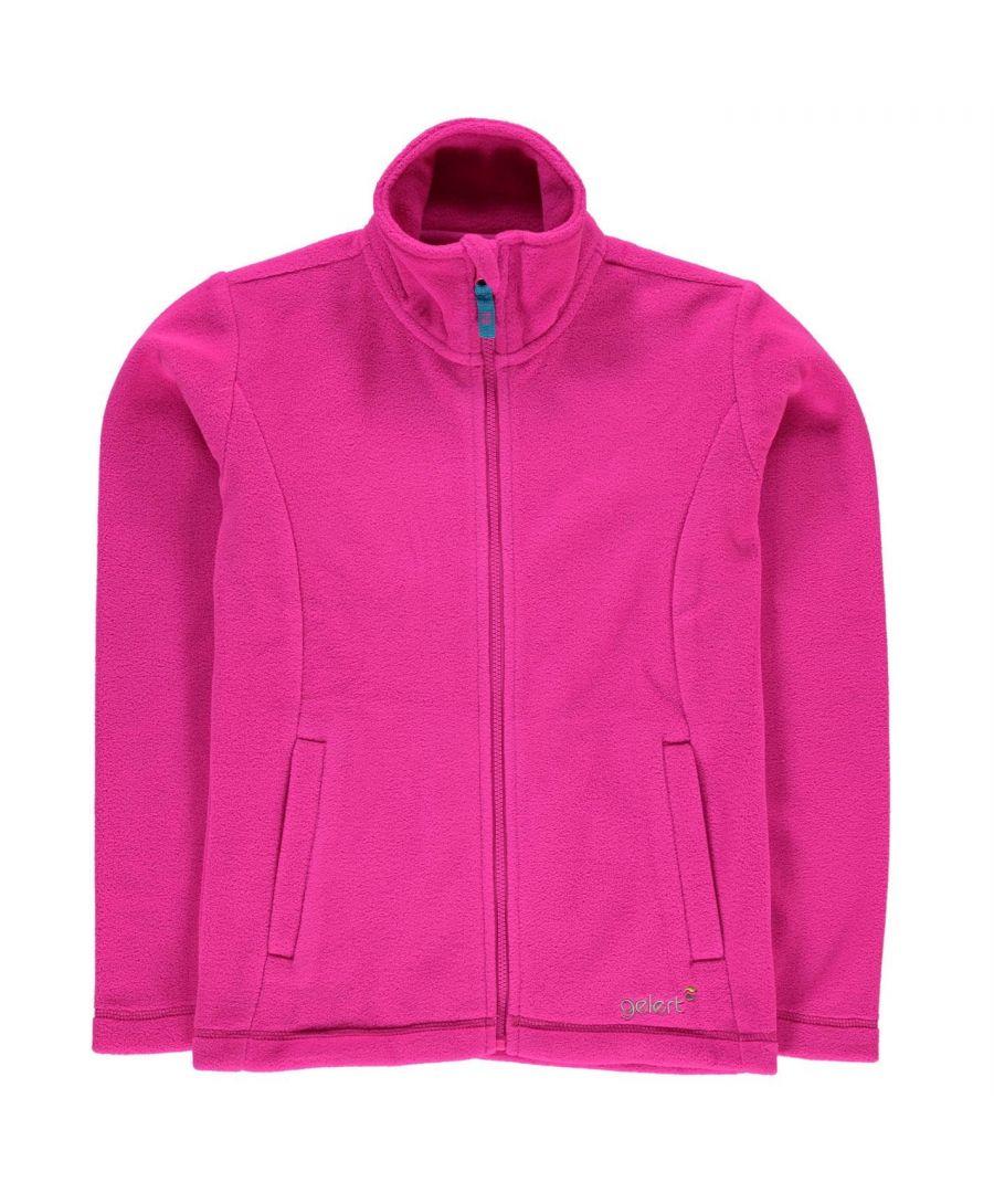Image for Gelert Kids Girls Ottawa Fleece Jacket Long Sleeve Soft Feel Fleece Zip Neck