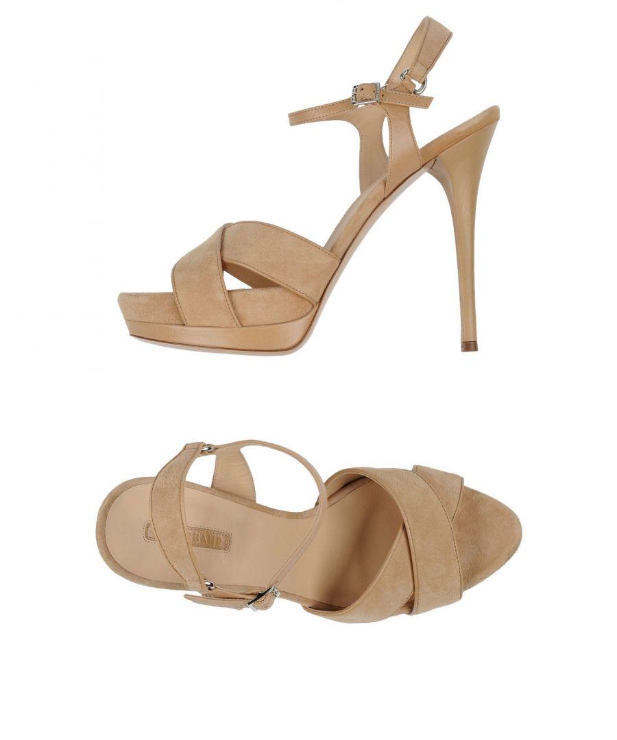 Image for Longchamp Beige Leather Heeled Sandals