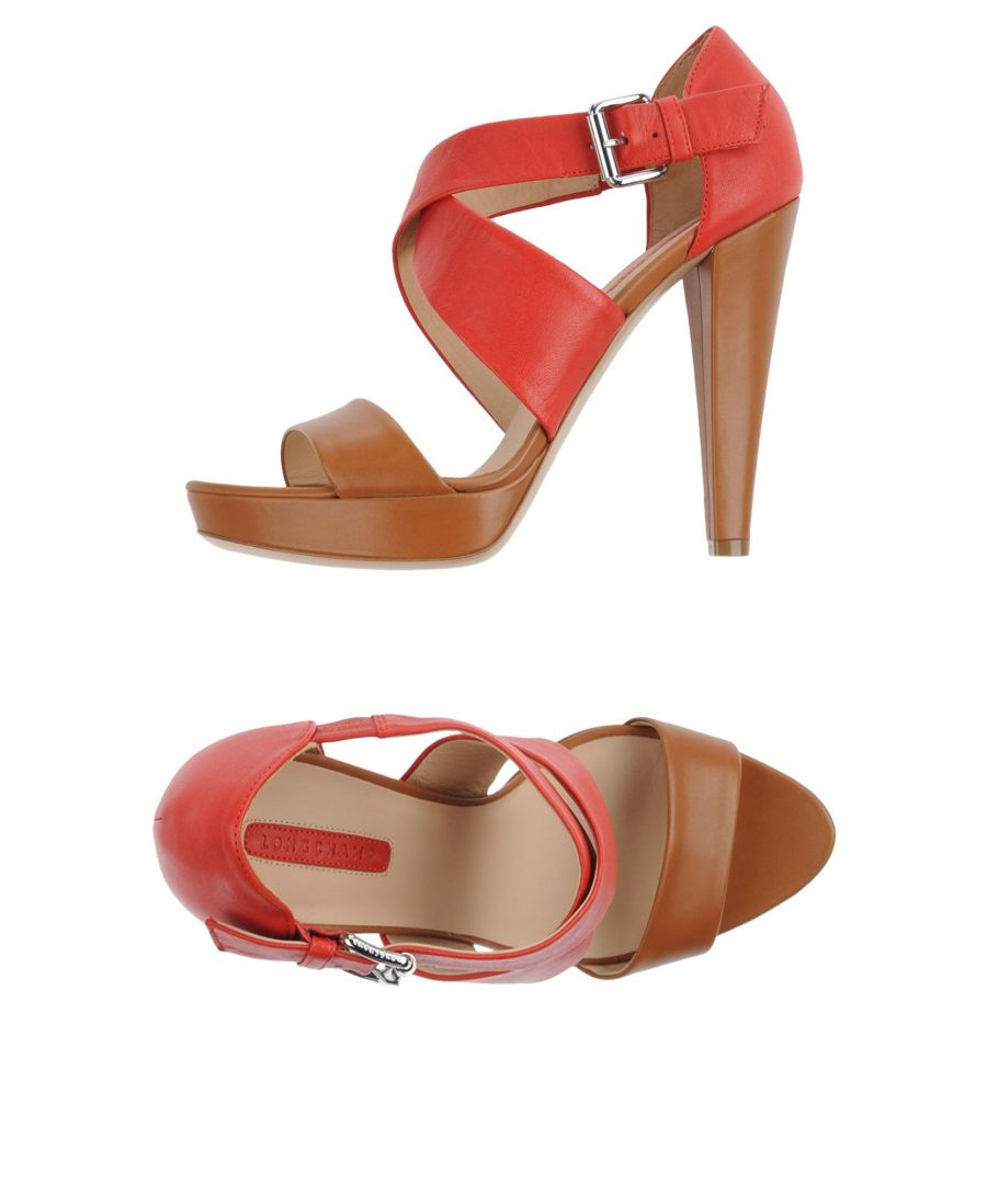 Image for Longchamp Brown Leather Heeled Sandals