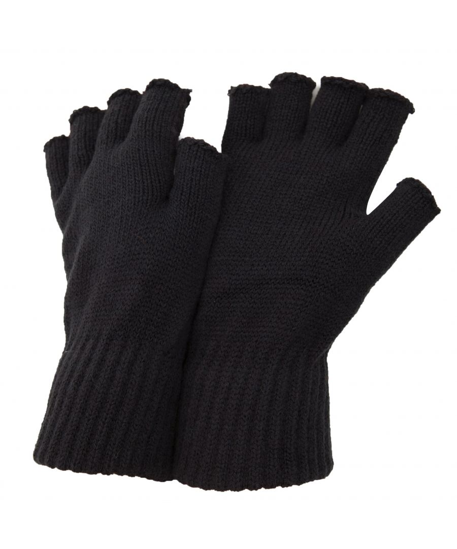 Image for FLOSO Mens Fingerless Winter Gloves (Dark Grey)