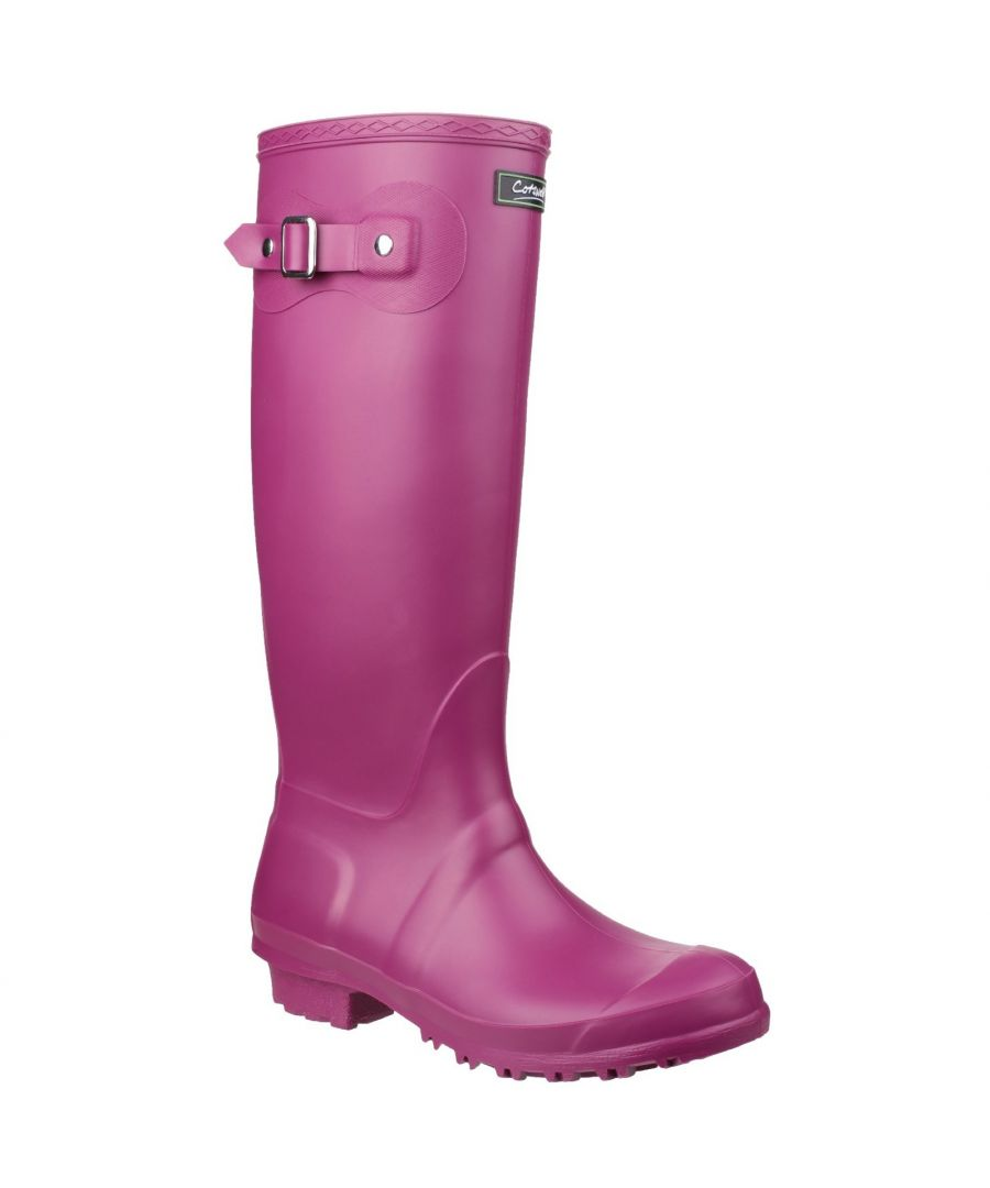 Image for Cotswold Sandringham Buckle-Up Womens Wellington Boots (Berry)