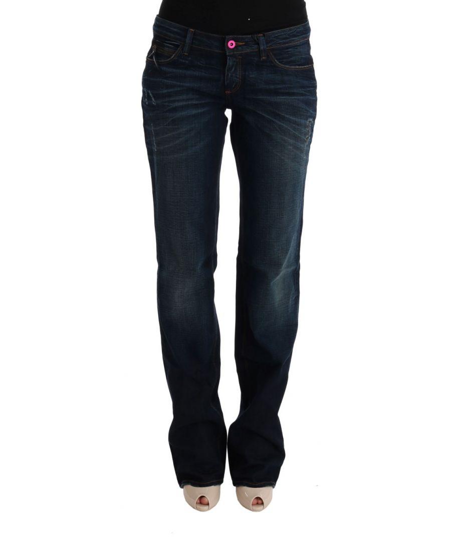 Image for Costume National Blue Cotton Regular Fit Denim Jeans