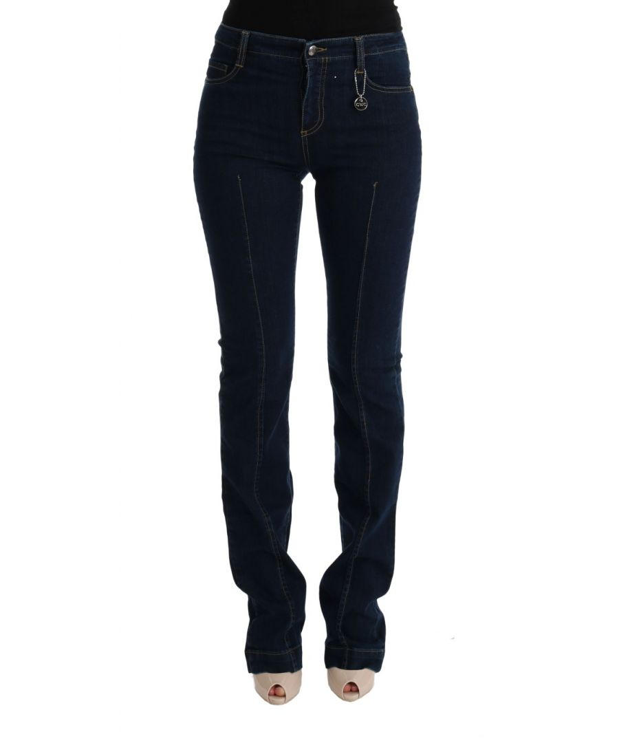 Image for Costume National Blue Cotton Bootcut Flared Jeans