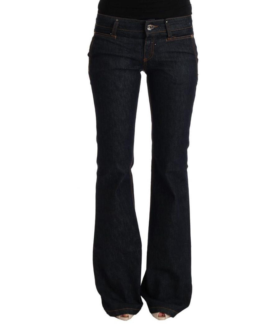 Image for Costume National Dark Blue Cotton Bootcut Flared Jeans