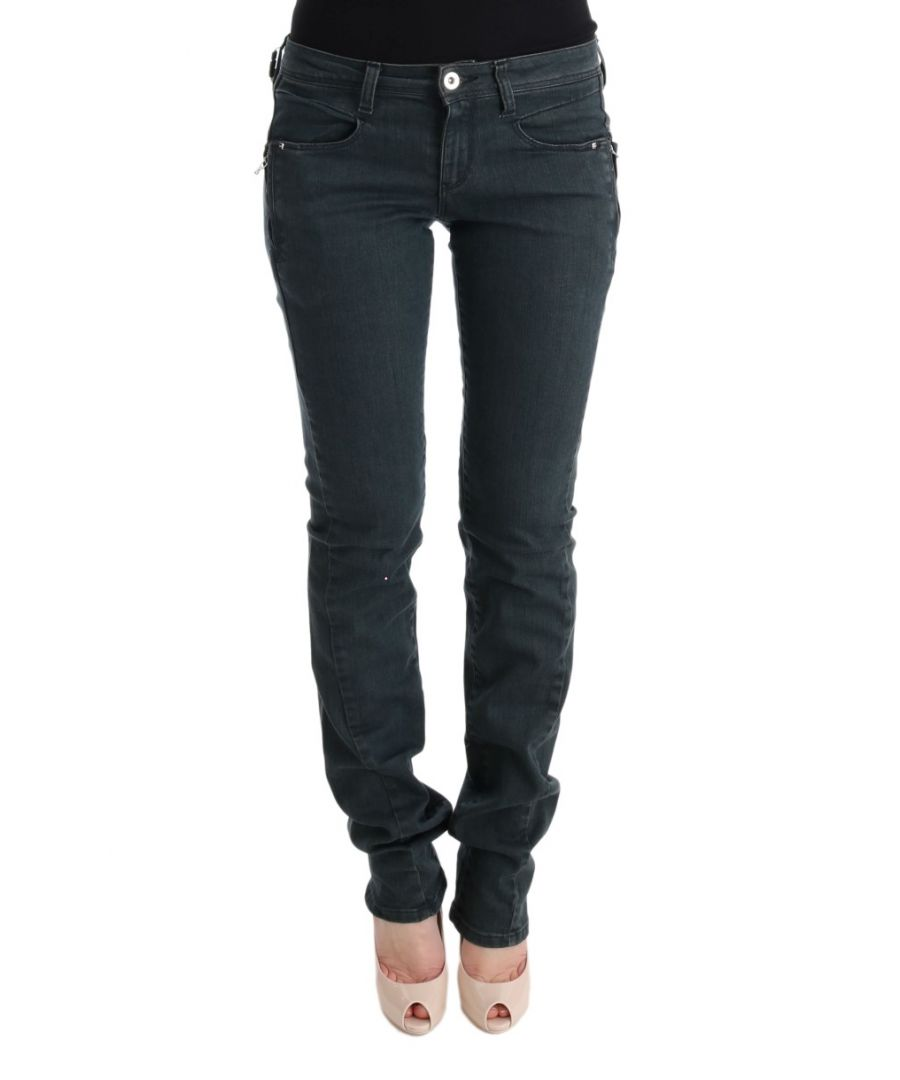 Image for Costume National Gray Cotton Superslim Denim Jeans