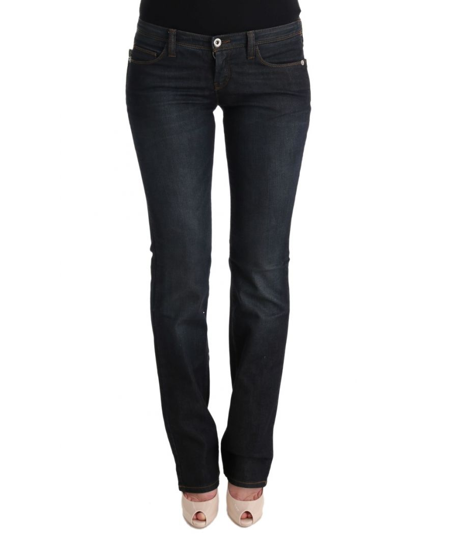 Image for Costume National Gray Cotton Slim Flared Jeans