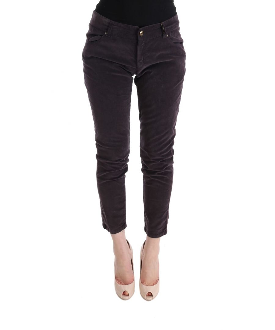 Image for Ermanno Scervino Brown Cotton Cropped Casual Pants