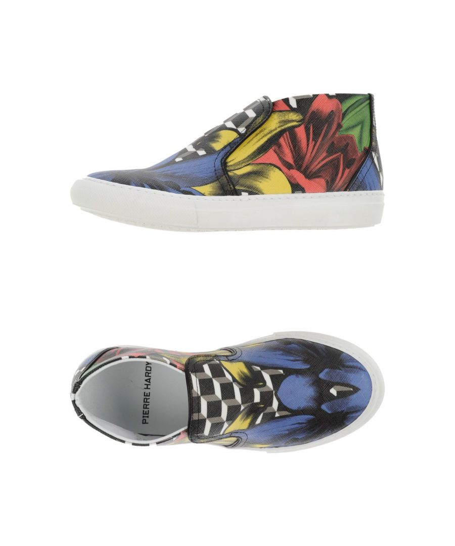 Image for Pierre Hardy Red Floral Design Slip Ons