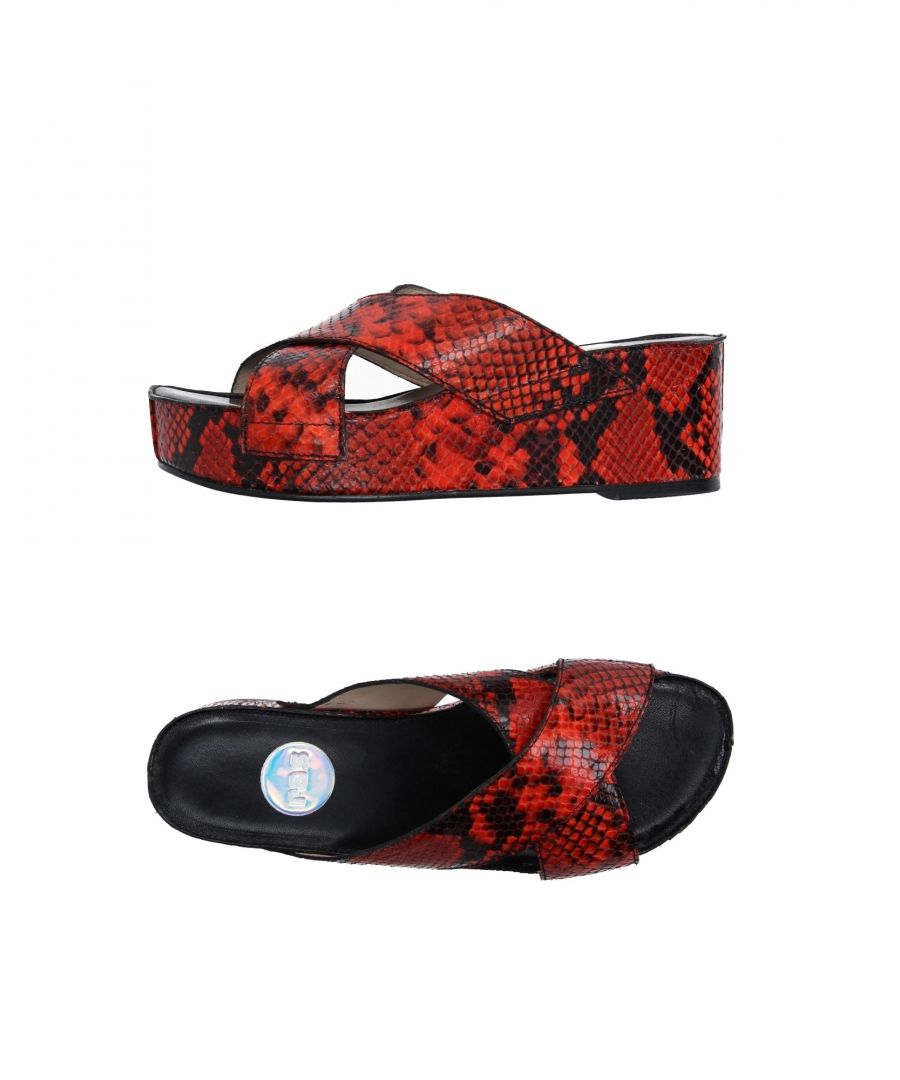 Image for Ras Red Leather Sandals