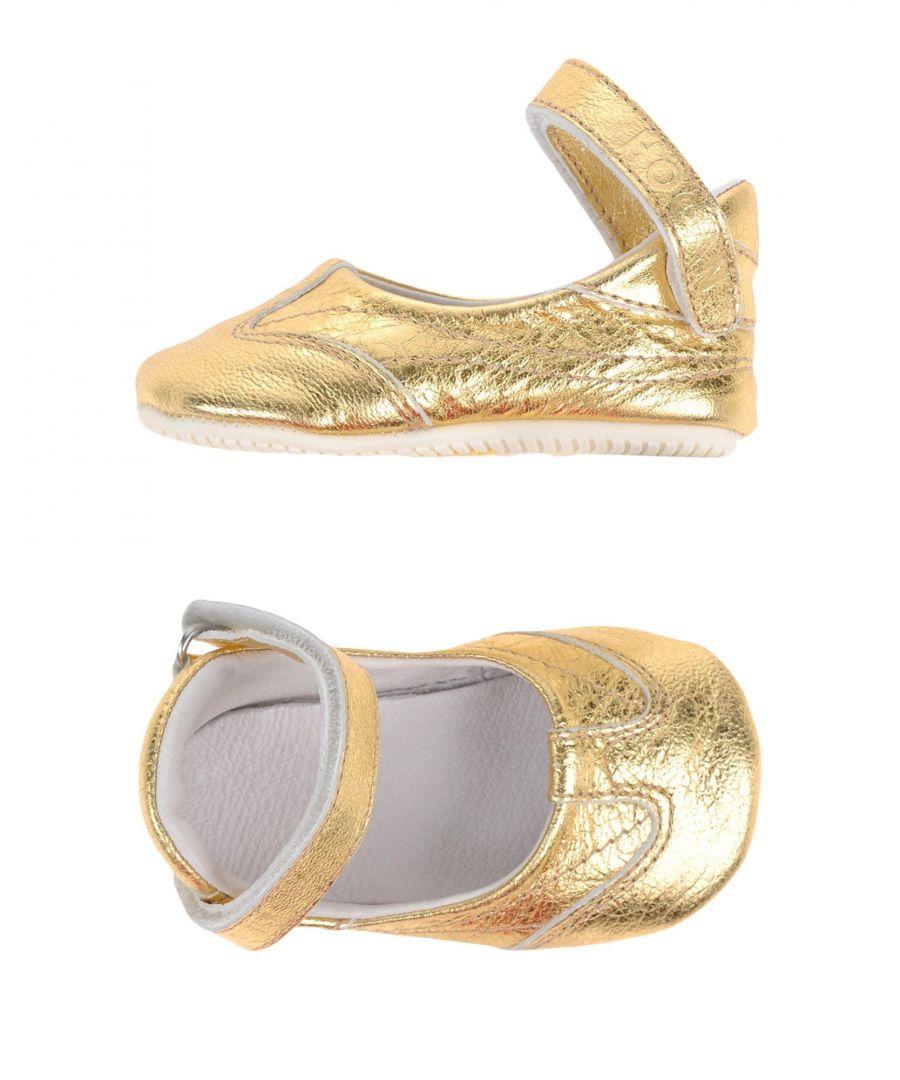 Image for Hogan Gold Leather Ballet flats