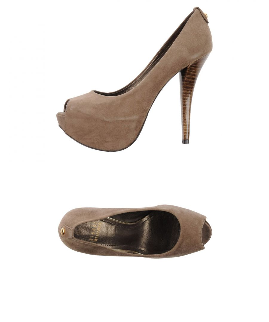 Image for Stuart Weitzman Khaki Leather Courts
