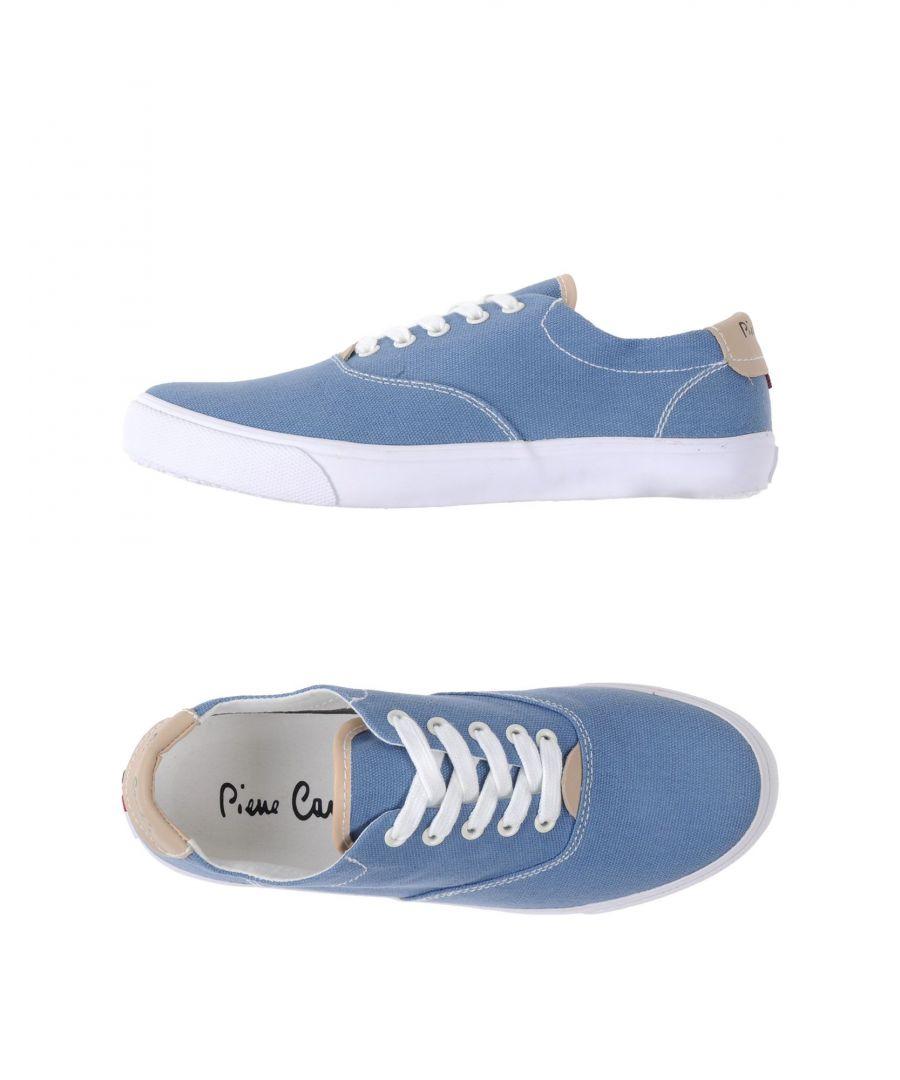 Image for Pierre Cardin Slate Blue Canvas Sneakers