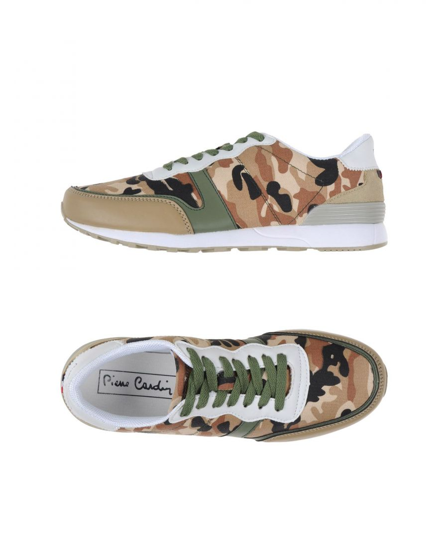 Image for Pierre Cardin Khaki Camouflage Design Sneakers