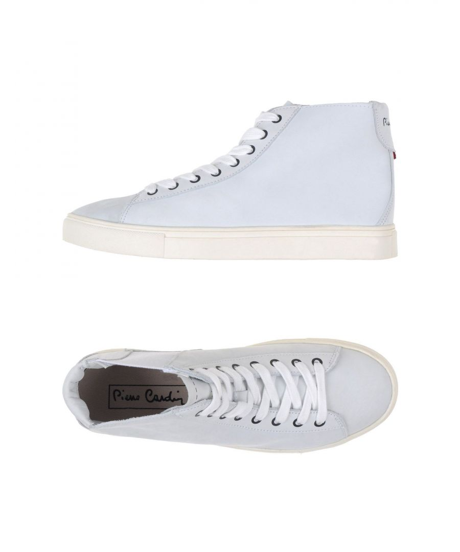 Image for Pierre Cardin Light Grey Leather High Top Sneakers