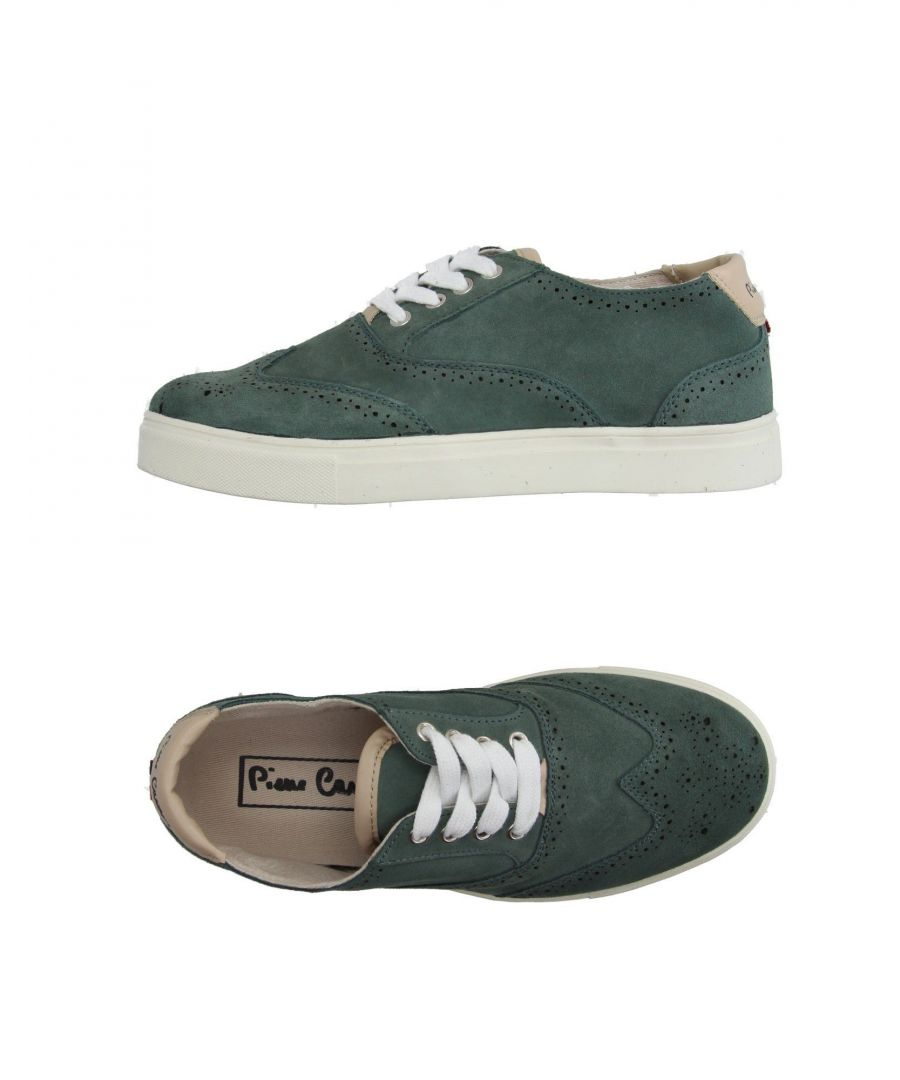Image for Pierre Cardin Green Leather Sneakers