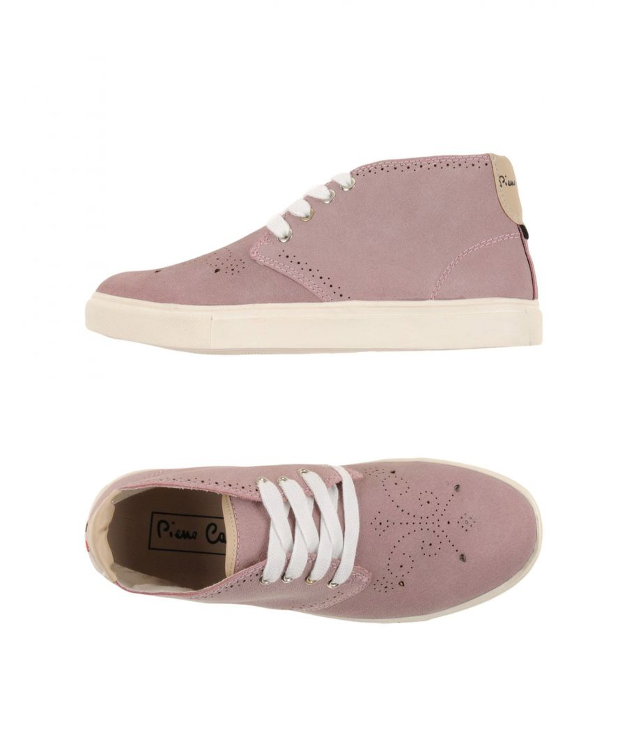 Image for Pierre Cardin Pink Leather High Top Sneakers