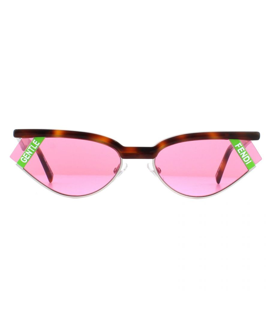 Image for Fendi Sunglasses FF 0369/S 086 U1 Dark Havana Pink