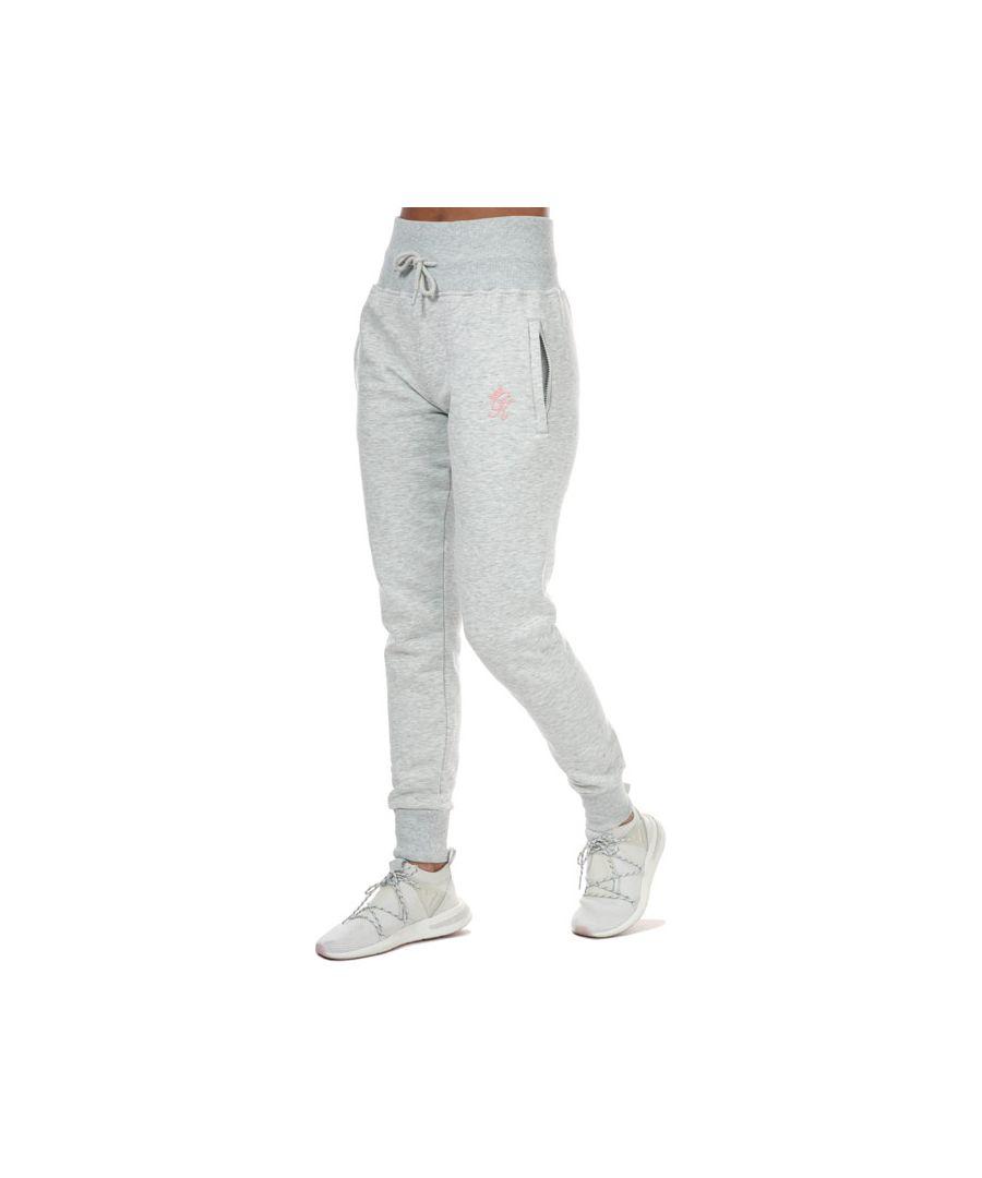 Image for Women's Gym King Sky Script Jog Pants in Grey Marl