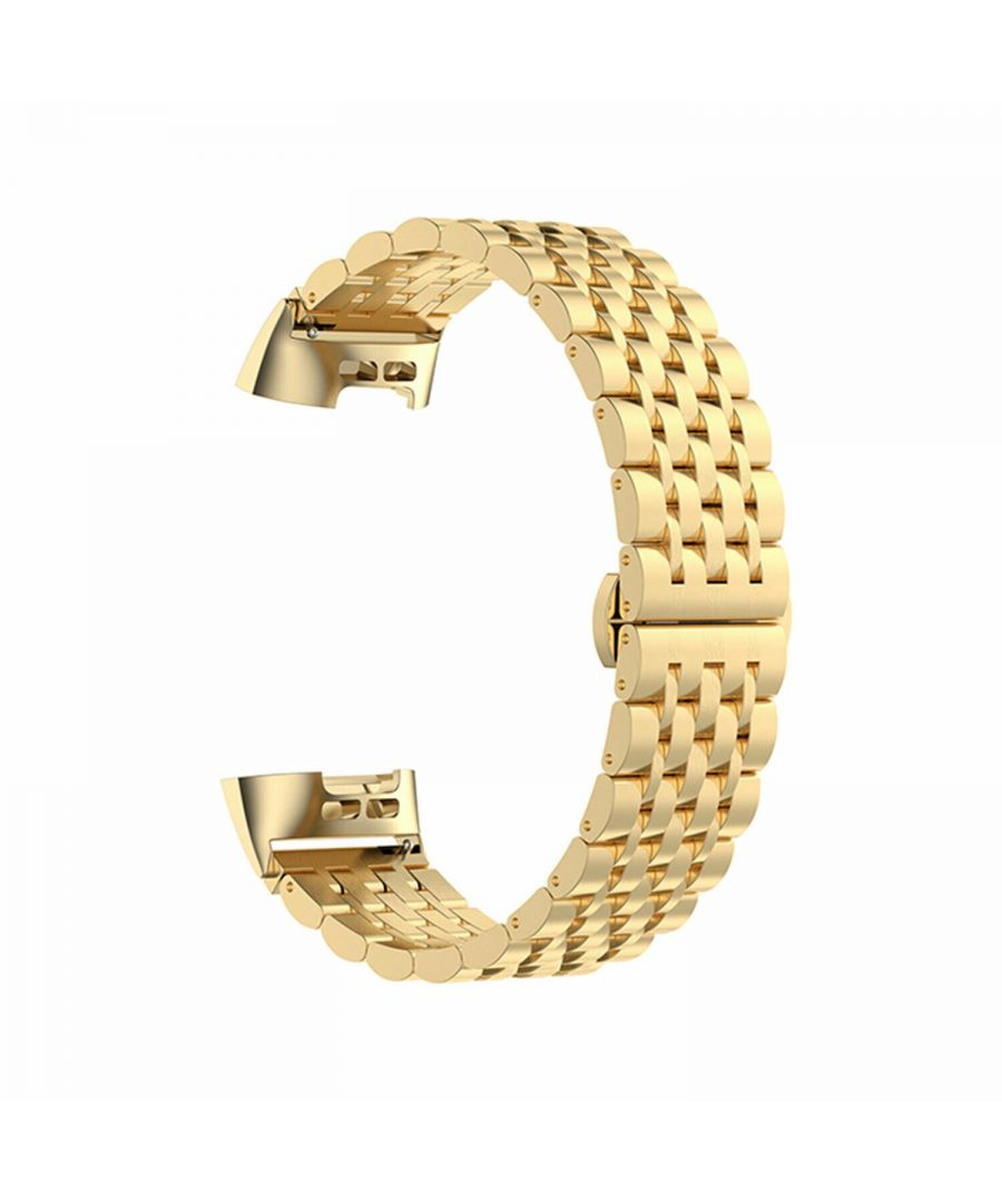 Image for Aquarius Metal Watch Band for Fitbit Charge 3 Gold