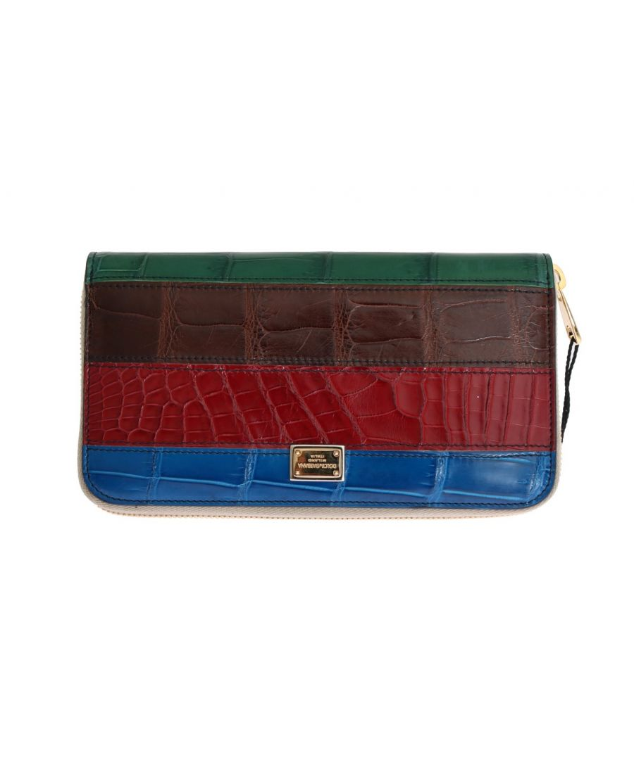 Image for Dolce & Gabbana Multicolor Crocodile Leather Continental Wallet