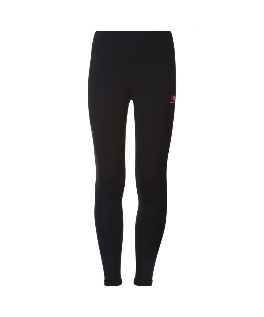 Image for Karrimor Kids Junior Girls XLite Running Tights Pants Trousers Bottoms Drawstring