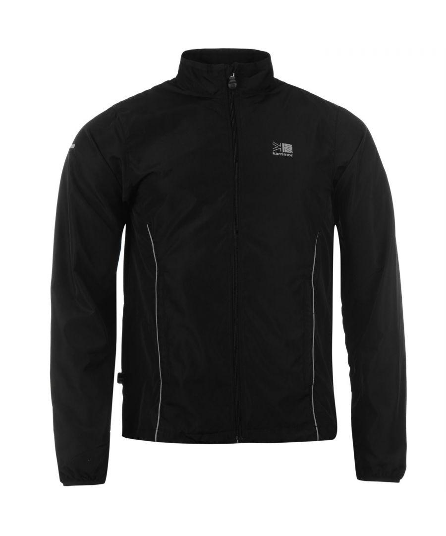 Image for Karrimor Mens Running Jacket Jogging Long Sleeve Zip Fastening Coat Top Outdoor