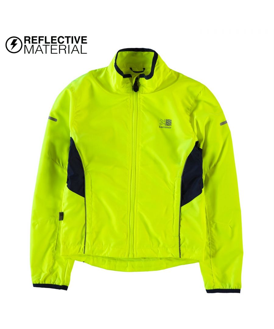 Image for Karrimor Kids Boys High Viz Running Jacket Long Sleeve Zip Fastening Coat Top