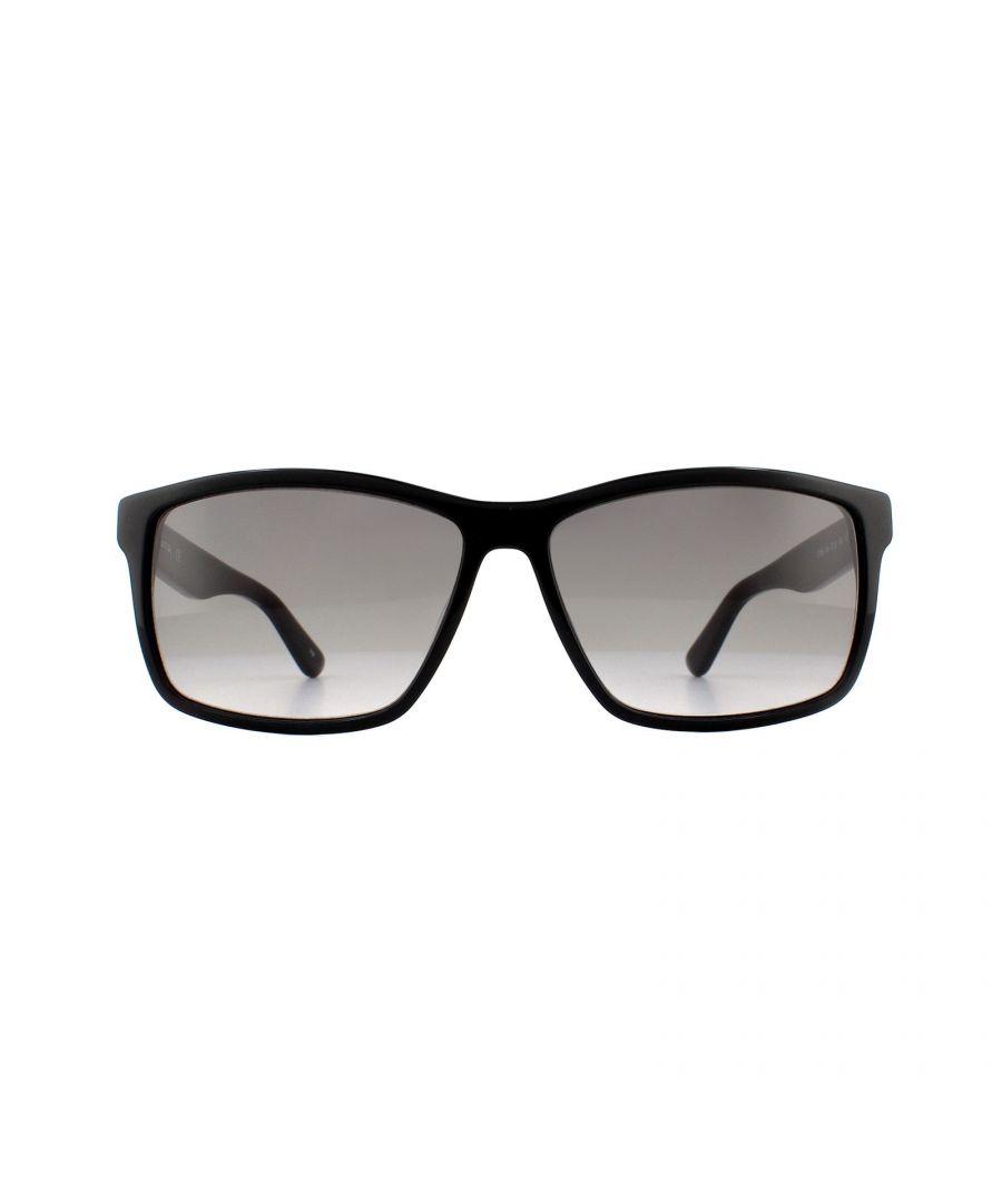Image for Lacoste Sunglasses L705S 001 Black Brown Violet Gradient