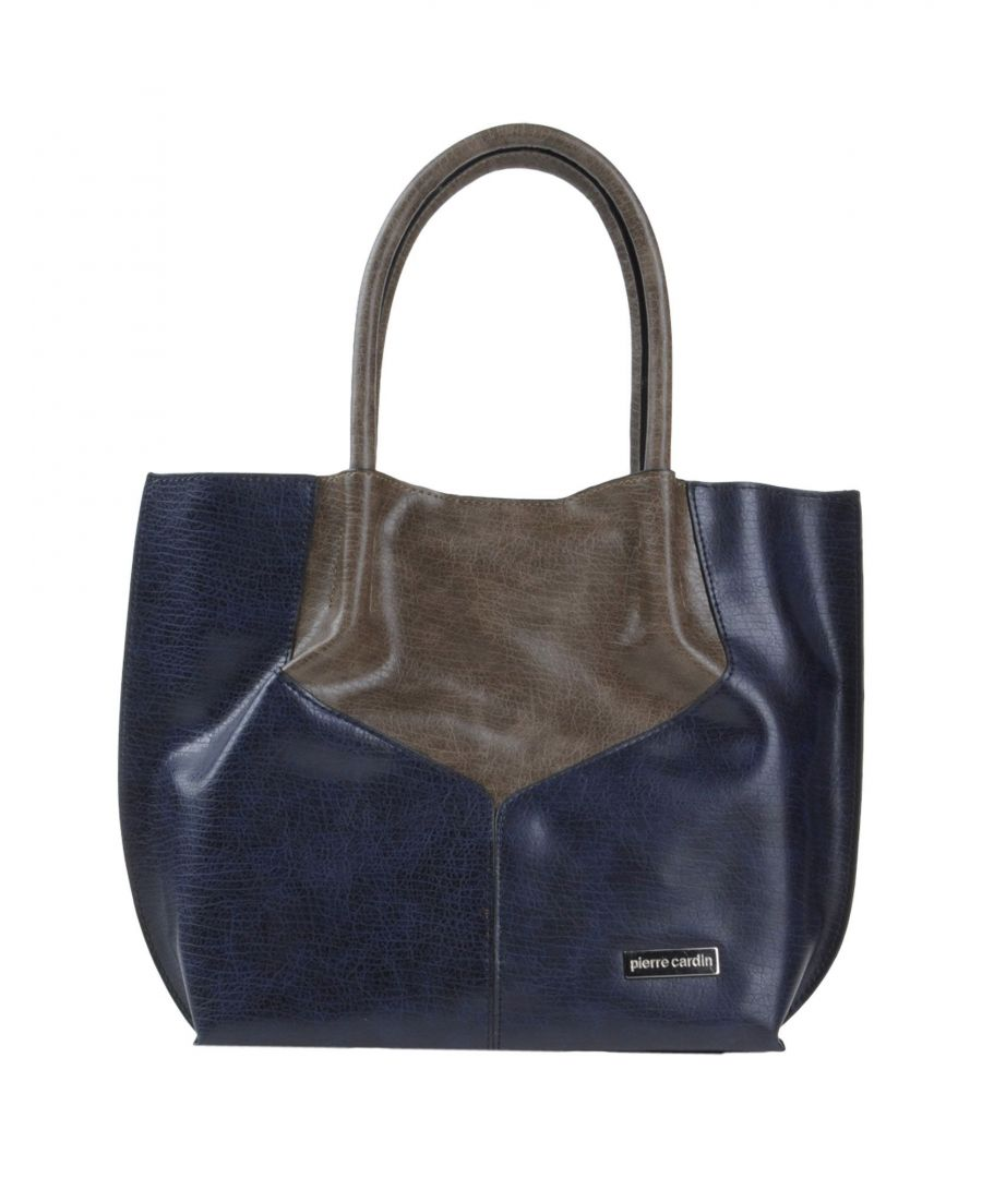 Image for Pierre Cardin Dark Blue Faux Leather Shopper Bag