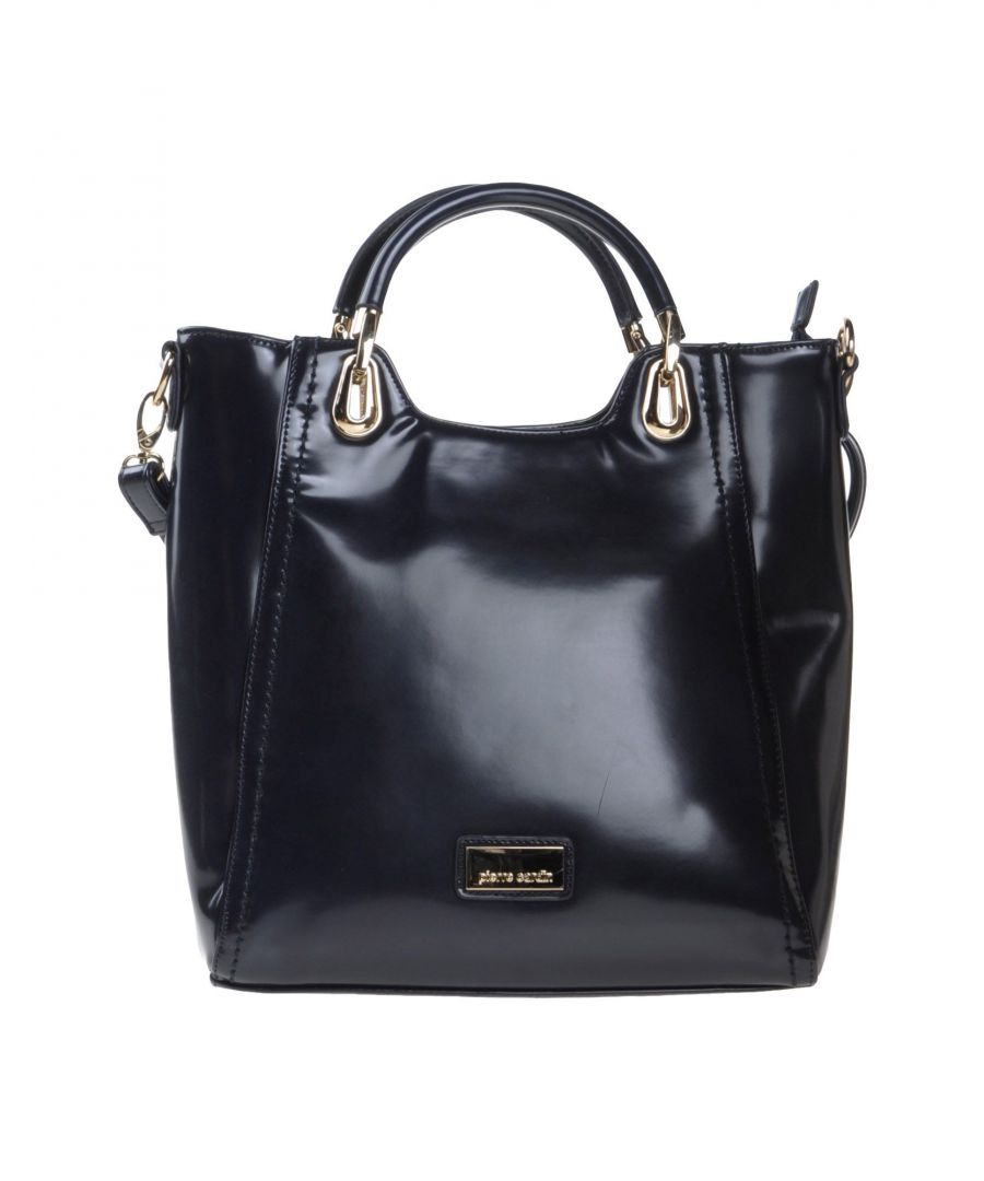Image for Pierre Cardin Dark Blue Faux Leather Shopper