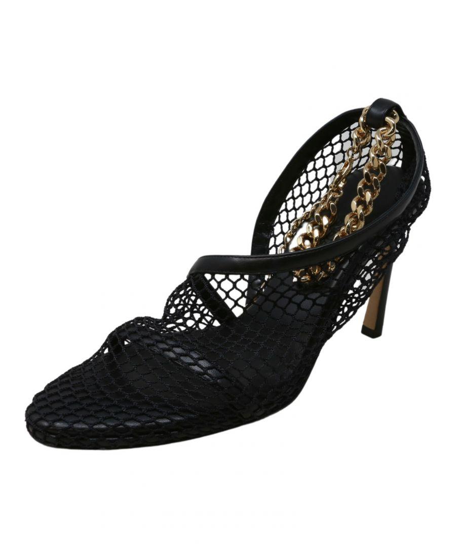 Image for Bottega Veneta Women's Tex Sandal Nero / Gold Ankle-High Fabric Pump - 7.5 M