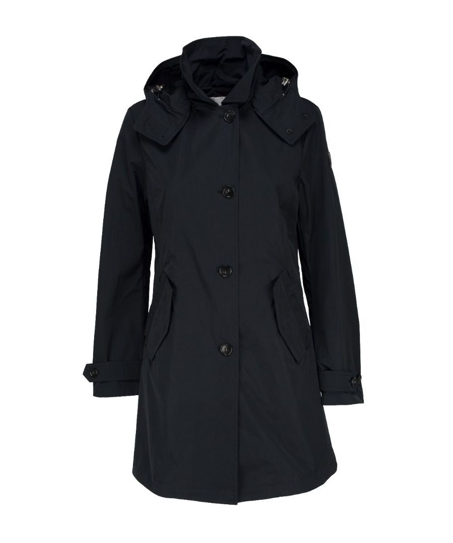 Image for WOOLRICH WOMEN'S WWOU0217UT0573324 BLUE COTTON TRENCH COAT