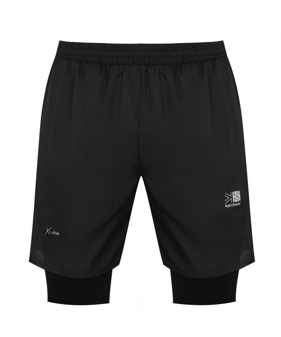 Image for Karrimor Mens XLite 2in1 Performance Shorts Tight Under Loose Over Shorts Bottom