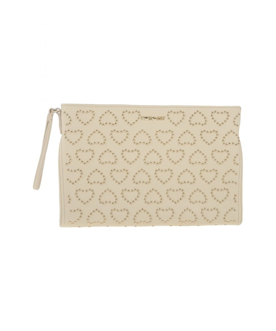 Image for Twinset Ivory Faux Leather Clutch Bag
