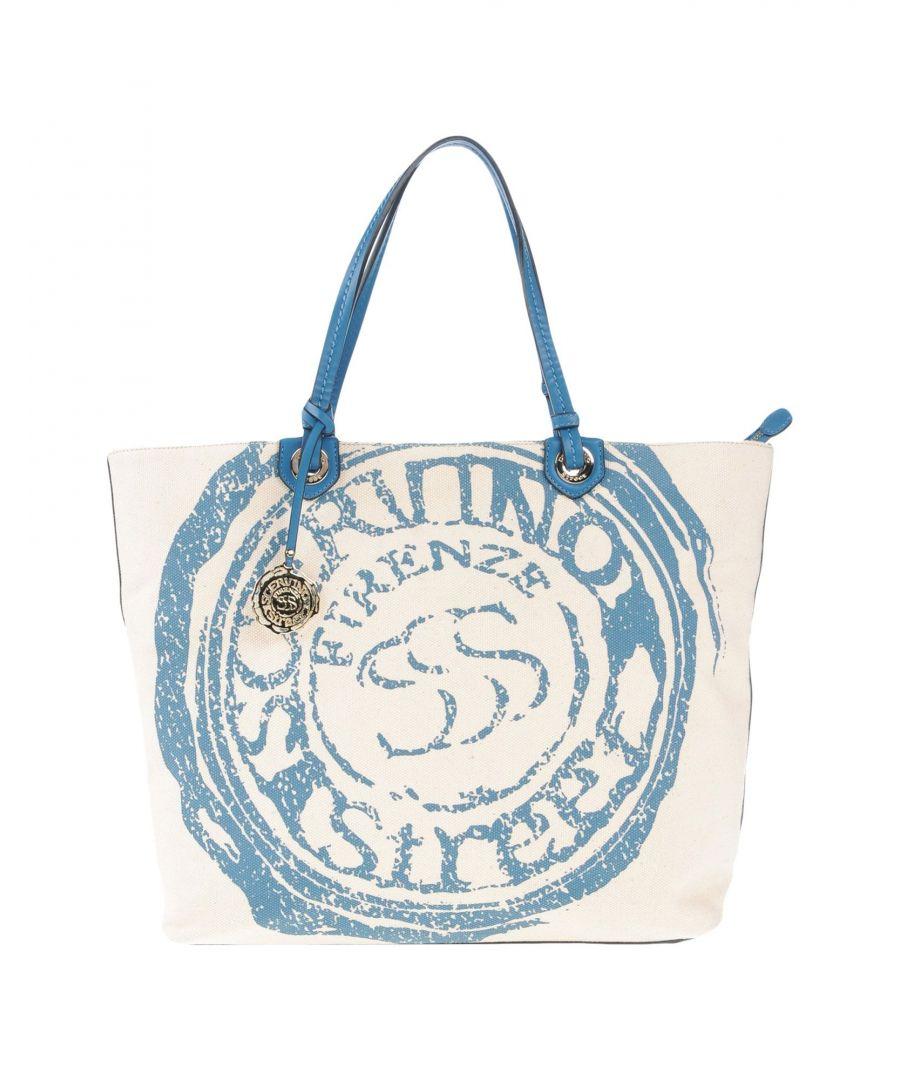 Image for Scervino Street Blue Cotton Canvas Logo Shopper Bag