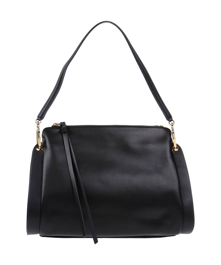 Image for Sergio Rossi Black Leather Shoulder Bag