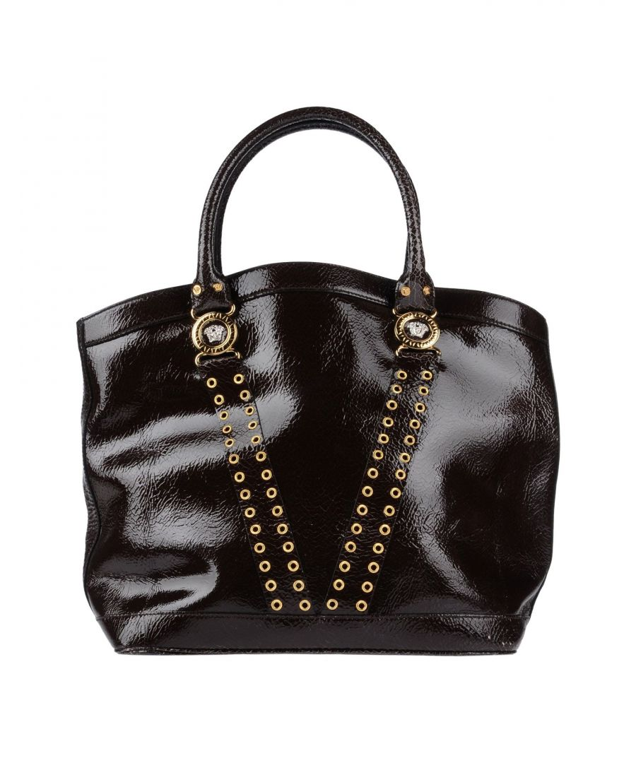 Image for Versace Dark Brown Leather Shopper Bag