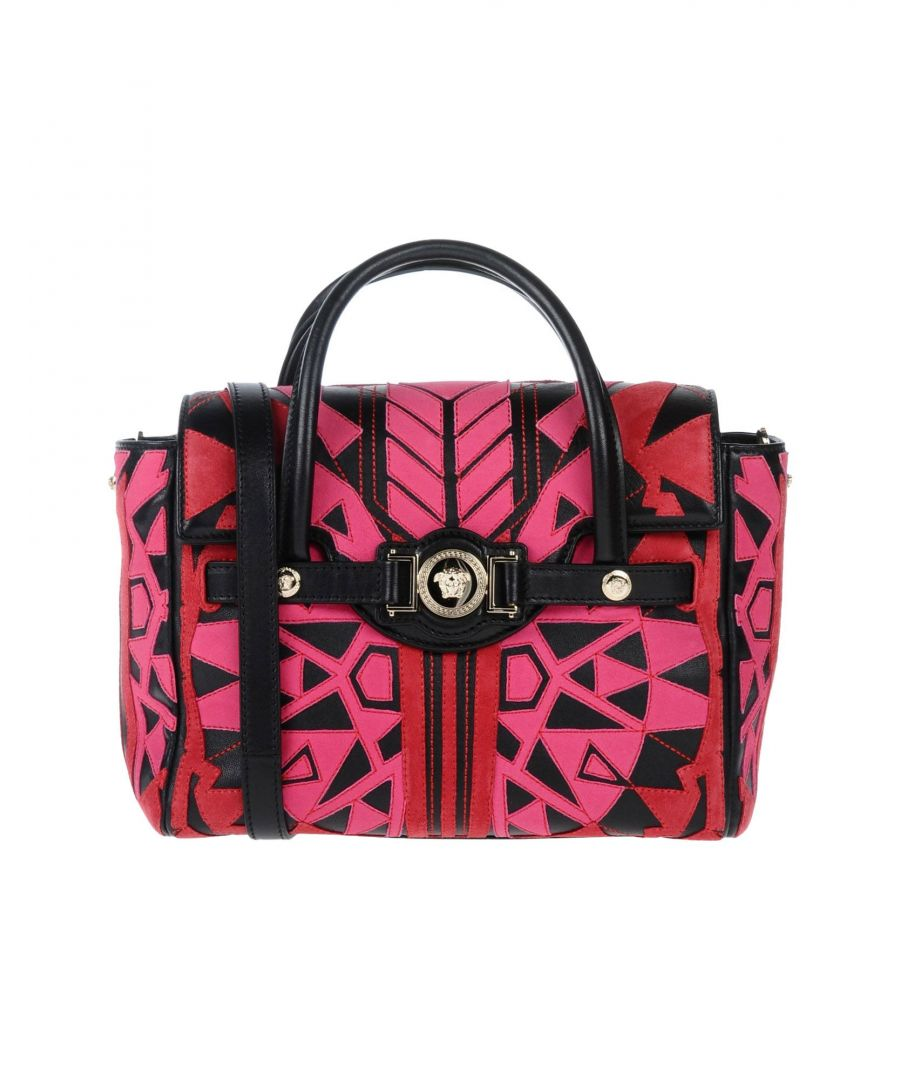 Image for Versace Garnet Textured Leather Satchel Bag