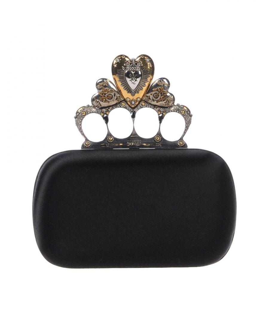 Image for Alexander McQueen Black Satin Clutch Bag