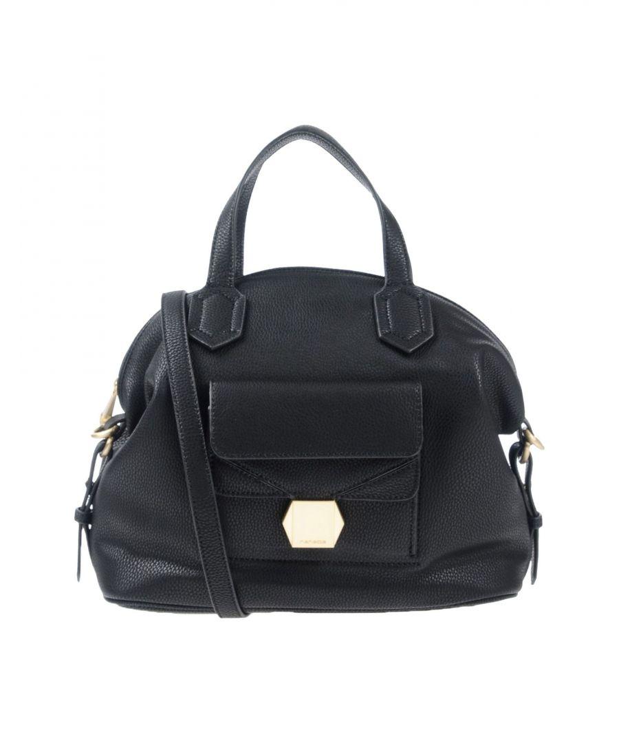 Image for Nenette Black Faux Leather Bucket Bag