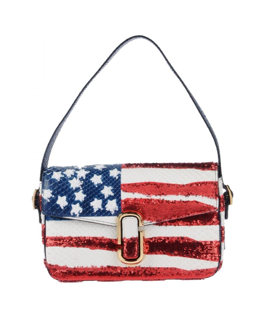 Image for Marc Jacobs White Leather Stars And Stripes Shoulder Bag