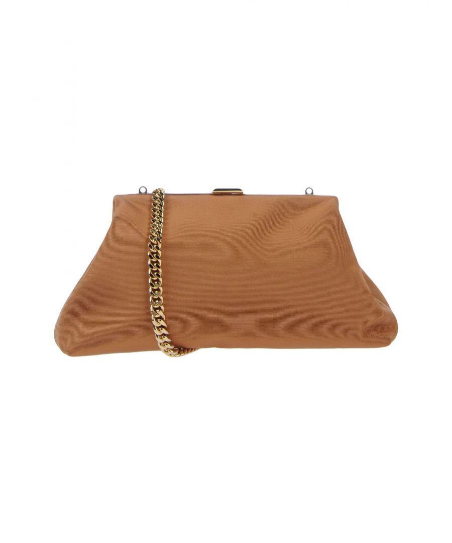 Image for Mansur Gavriel Brown Framed Clutch Bag