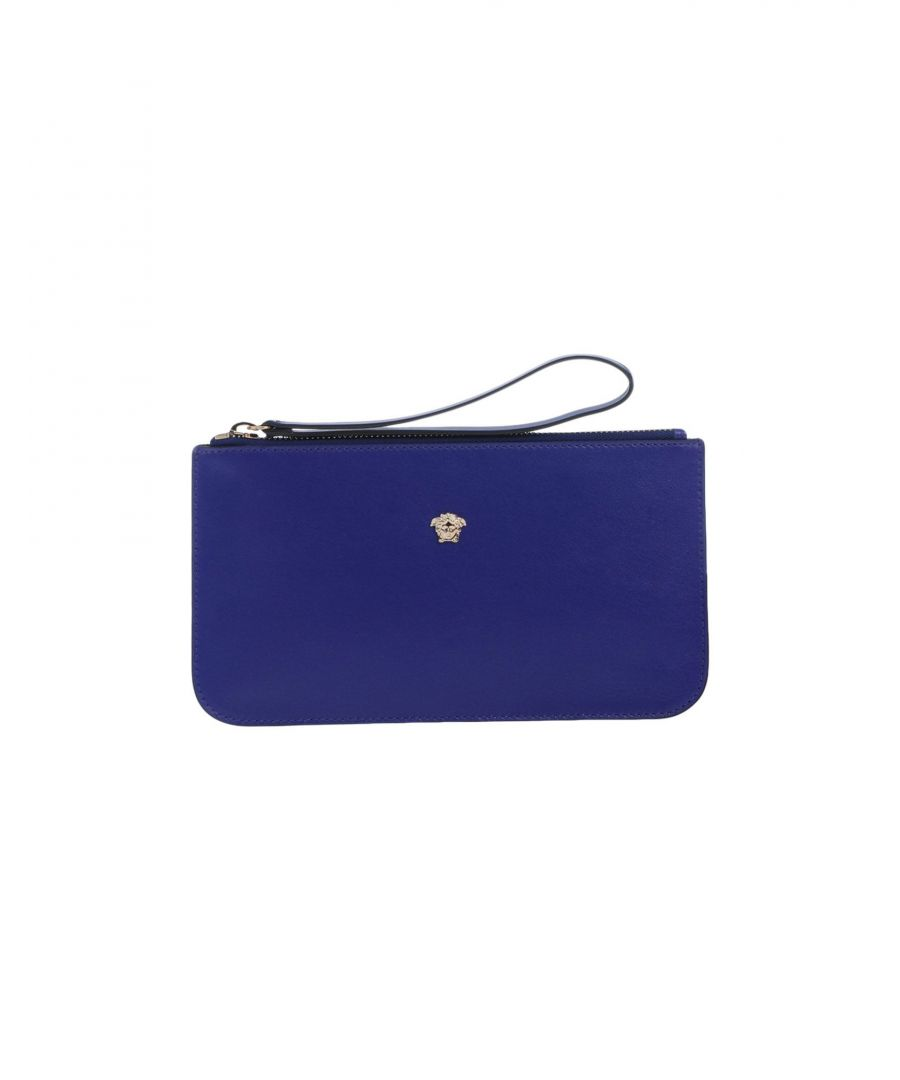 Image for Versace Bright Blue Leather Clutch