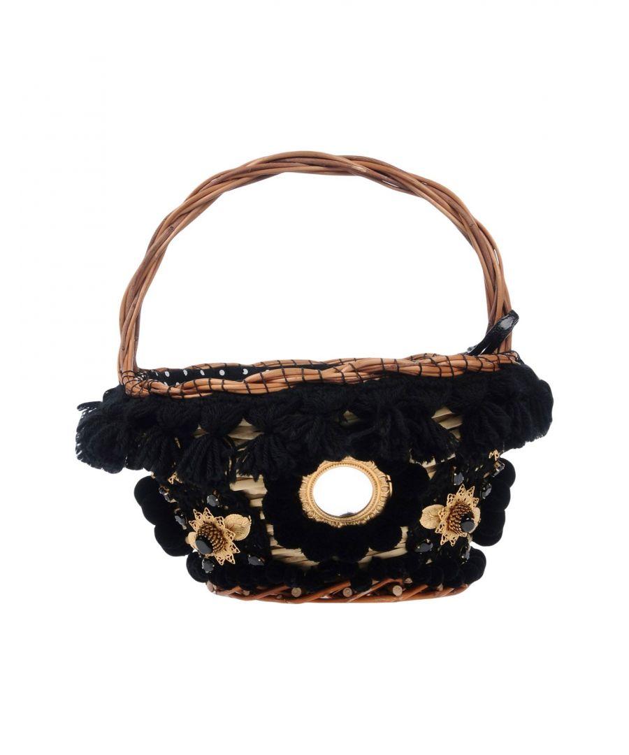 Image for Dolce & Gabbana Black Knit Embellished Mini Bag