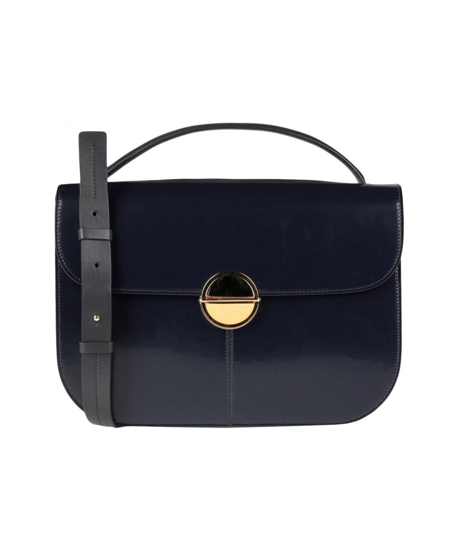 Image for Marni Dark Blue Calf Leather Satchel Bag