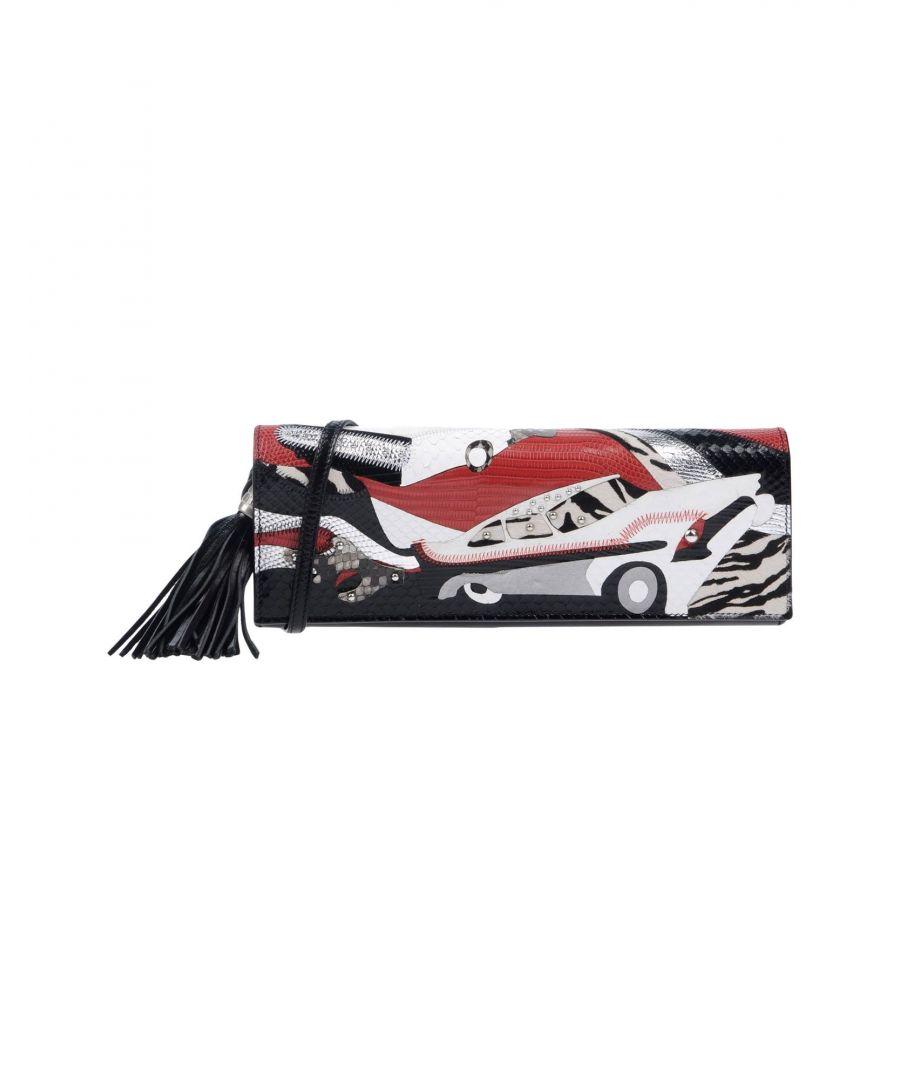 Image for Saint Laurent Black Calf Leather Print Baguette Bag