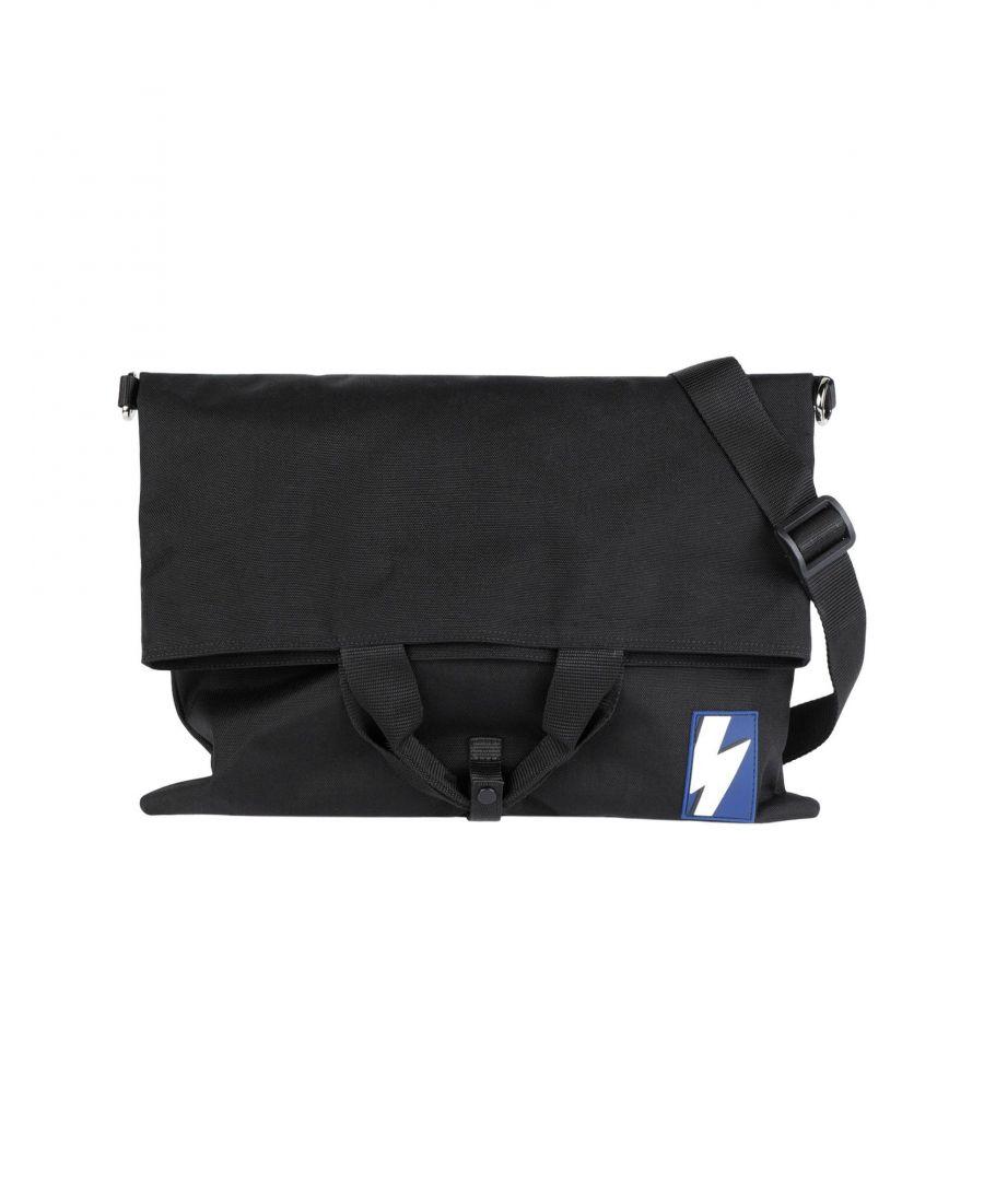 Image for Neil Barrett Black Techno Fabric Messenger Bag