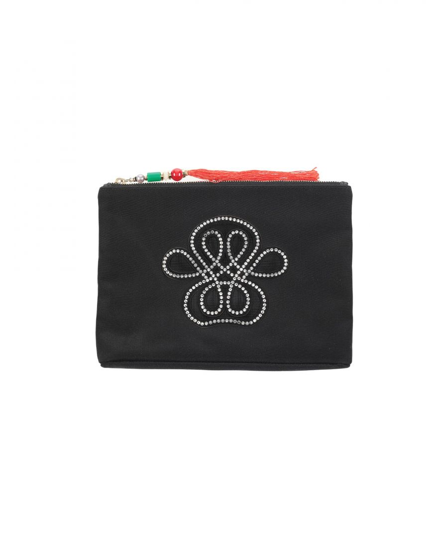 Image for Small Leather Goods Woman Charlotte Olympia Black Textile fibres