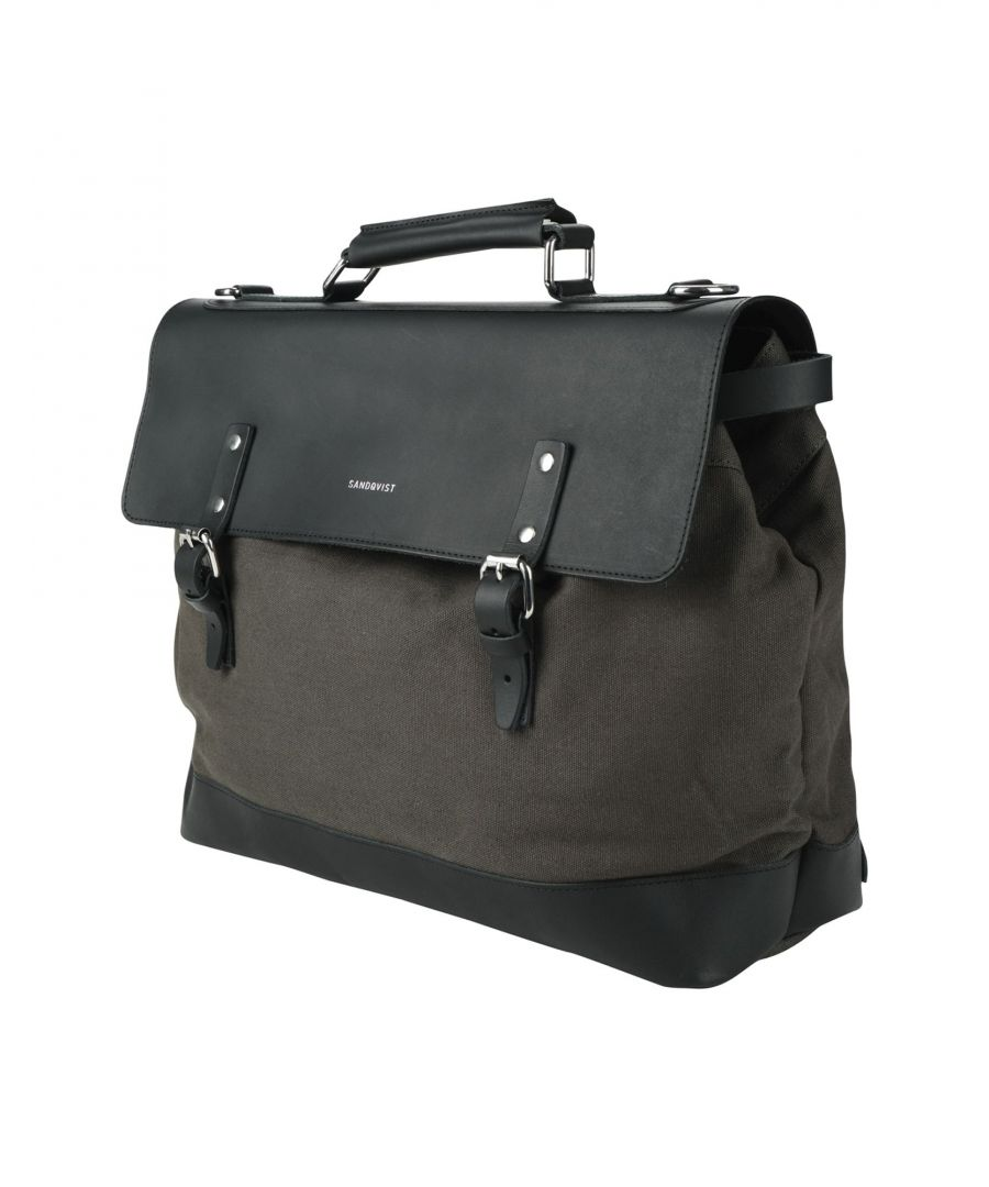 Image for Sandqvist Dark Green Cotton Satchel Bag
