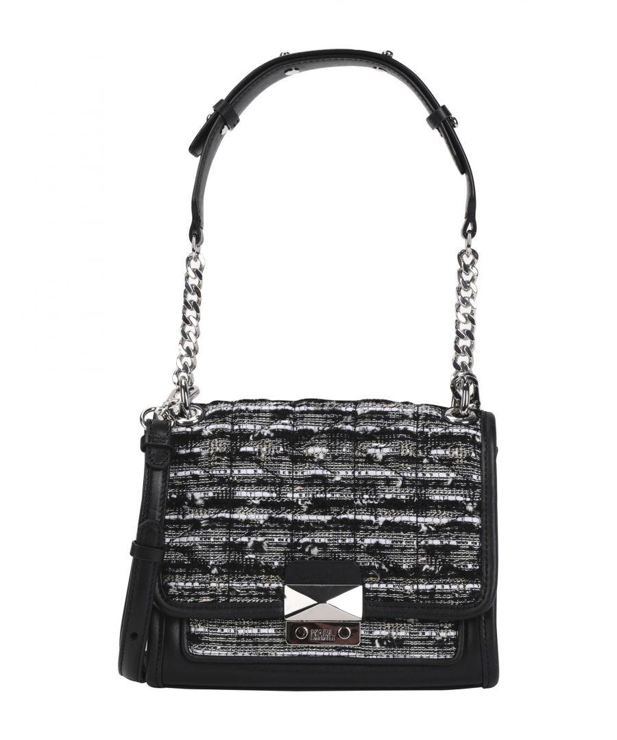 Image for Karl Lagerfeld Black Leather Satchel Shoulder Bag